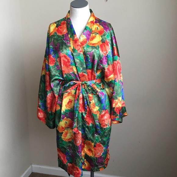 Victoria's Secret Other - Vintage Victoria's Secret Floral Satin Robe